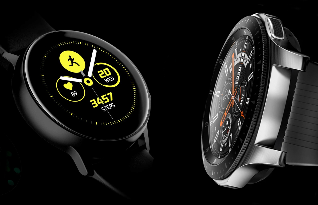 Сравнение Galaxy Watch Active и Samsung Galaxy Watch.