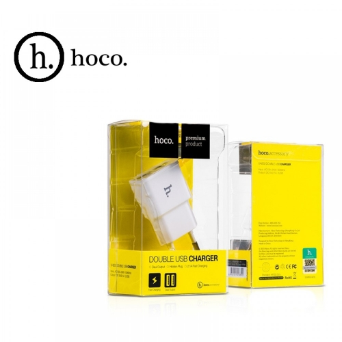 Смарт-зарядное устройство HOCO UH202. 2xUSB 1.0A Цвет: Белый