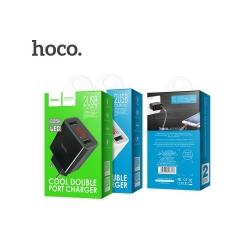 Зарядное устройство Hoco C25A LED 2USB цвет черный