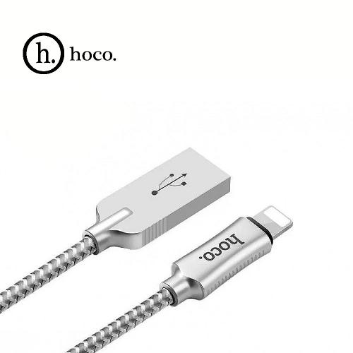 USB кабель HOCO Zinc Alloy U10 для Apple 1,2 м. Цвет: Серебристый