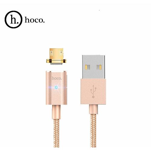 Магнитный кабель HOCO U16 micro 1,2м Цвет: Золотой