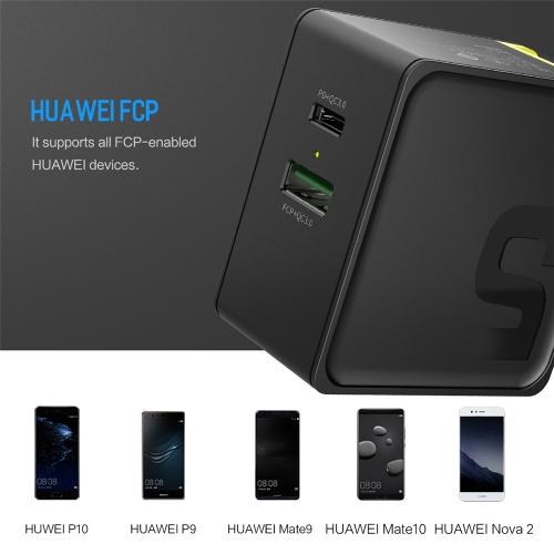 Сетевое зарядное устройство ROCK Sugar Huawei FCP QC3.0, 2.4A