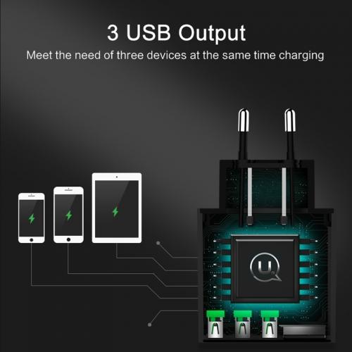 Сетевое зарядное устройство USAMS CC-035 на 3 USB порта
