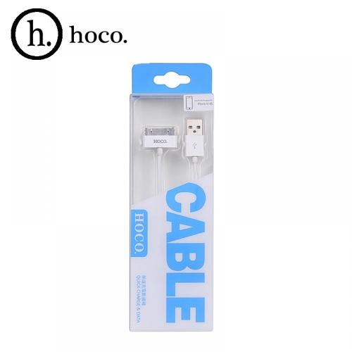 USB кабель HOCO UP301 для iphone4 30Pin 1,2м. Цвет: Белый