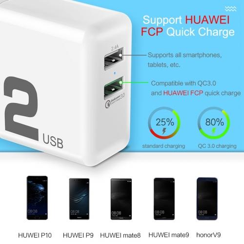 Сетевая зарядка Rock T13 30W Quick charge (QC) 3.0 Travel Charger