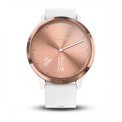 Garmin vivomove HR розовое золото с белым ремешком