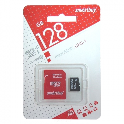 Карта памяти Smartbuy microSDXC 128 Гб SB128GBSDCL10-01