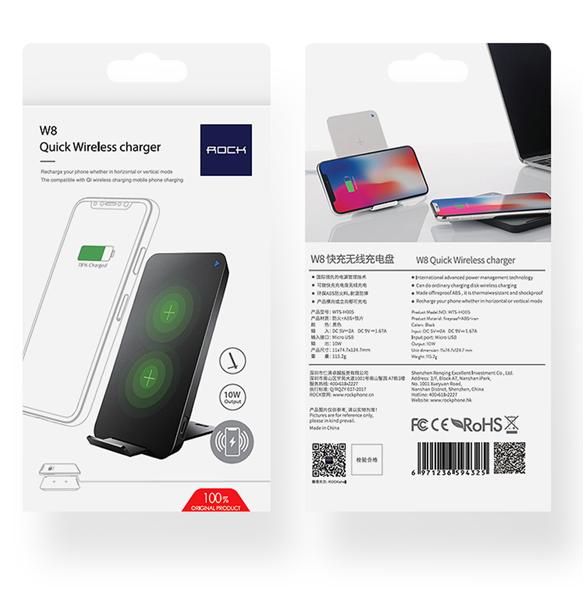 Беспроводное зарядное устройство Rock W8 Quick Wireless Charger