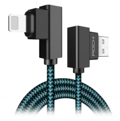 Кабель угловой для iPhone Rock Lightning to USB Dual-end-L-shape cable 1 м